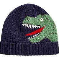 John Lewis Childrens Dinosaur Beanie Hat, Navy