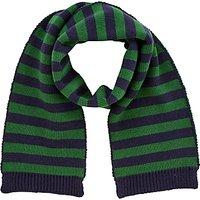 John Lewis Children's Stripe Scarf, Navy/Green