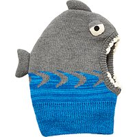 John Lewis Children's Shark Balaclava, Grey
