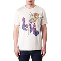 Pretty Green Love Graphic T-Shirt, Stone/Multi
