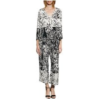 French Connection Copley Printed Crepe Blouse, Summer White/Black