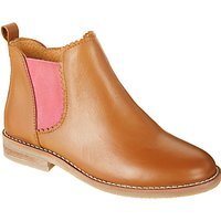 John Lewis Childrens Libby Leather Chelsea Boots, Tan
