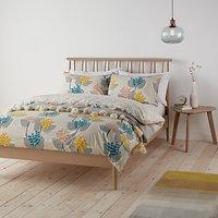 John Lewis Stellan Print Cotton Duvet Cover and Pillowcase Set