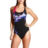 Speedo Lunar Vision Placement Digital Powerback Swimsuit, Black/Red