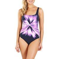 Speedo AuraGleam One Piece Swimsuit, Navy/Purple