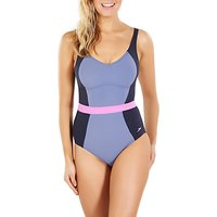 Speedo Sculpture CrystalGleam One Piece Swimsuit, Navy/Grey