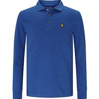 Lyle & Scott Boys Classic Long Sleeved Polo Shirt, Indigo