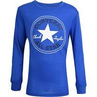 Converse Boys Long Sleeved Chuck Sweatshirt, Blue