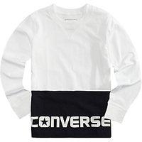 Converse Boys Long Sleeve T-Shirt, White