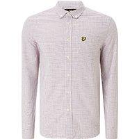 Lyle & Scott Tattersall Long Sleeve Shirt, White