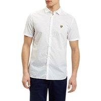 Lyle & Scott Square Dot Pattern Short Sleeve Shirt, White