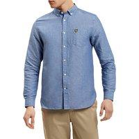 Lyle & Scott Linen-Blend Shirt, Blue
