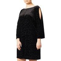 Adrianna Papell Plus Size Cold Shoulder Floral, Black