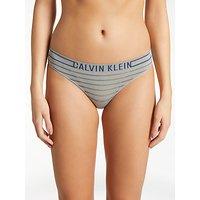 Calvin Klein Underwear Seamless Bikini Briefs, Heather Grey/Stripe