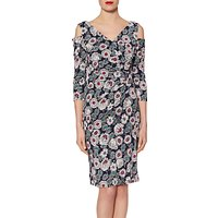 Gina Bacconi Mixed Flower Print Jersey Dress