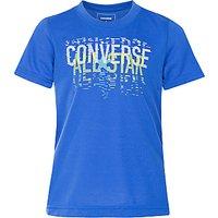 Converse Boys Linear All Star T-Shirt, Blue