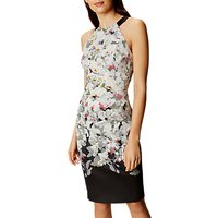 Karen Millen Oriental Pencil Dress, Multi