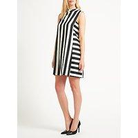 Marella Berlino Sleeveless Stripe Dress, Black/White