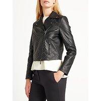 Marella Pablo Studded Leather Jacket, Black