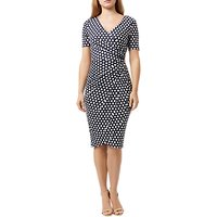 Damsel in a dress Enrica Spot Print Dress, Navy/Multi