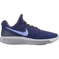 Nike LunarEpic Low Flyknit 2 Womens Running Shoes, Purple/Blue