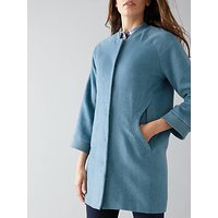 Numph Maryl Wool-Blend Coat, Bluestone