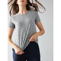 Numph New Kota T-Shirt, Grey Melange