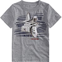 Converse Boys Shifted Trucks T-Shirt, Grey