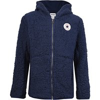 Converse Boys Sherpa Zip Through Hoodie, Navy