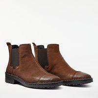 John Lewis Designed for Comfort Pia Block Heeled Chelsea Boots, Brown