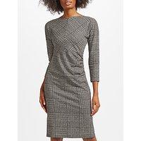 Weekend MaxMara Tago Jersey Printed Check Dress, Black
