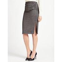 Weekend MaxMara Mogana Jersey Check Skirt, Black