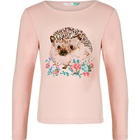 John Lewis Girls Hedgehog T-Shirt, Pink