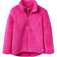 Little Joule Girls Fluffy Half Zip Fleece, Pink