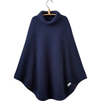 Little Joule Girls Knit Poncho, French Navy