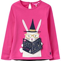 Little Joule Girls Rabbit Applique T-Shirt, Pink