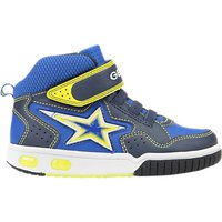 Geox Childrens Gregg Rip-Tape Trainers, Navy/Lime