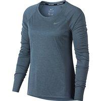 Nike Dry Miler Long Sleeve Running Top, Dark Blue