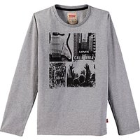 Levis Boys Long Sleeve City T-Shirt, Grey