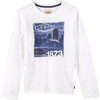 Levis Boys Long Sleeve City T-Shirt, White