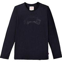 Levis Boys Julio Faded Print T-Shirt, Black