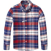 Tommy Hilfiger Boys Check Long Sleeve Shirt, Red/White/Blue