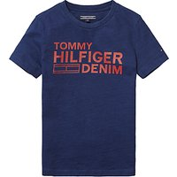 Tommy Hilfiger Boys Branded T-Shirt, Indigo