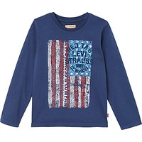 Levis Boys Long Sleeve Pigmy T-Shirt, Dark Blue