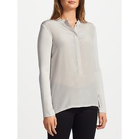 Marella Umbria Silk Front Jersey Top, Light Grey