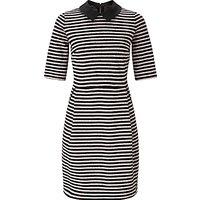 Marella None Stripe Jersey Dress, Powder