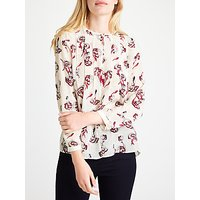 Marella Edro Printed Silk Blouse, Wool White