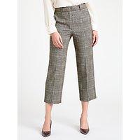 Marella Nausica Check Trousers, Dark Brown