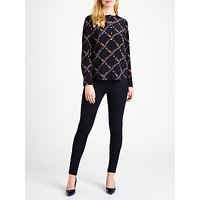 Marella Salato Printed Silk Blouse, Black