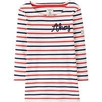 Little Joule Girls Harbour Striped Long Sleeve Top, Pink